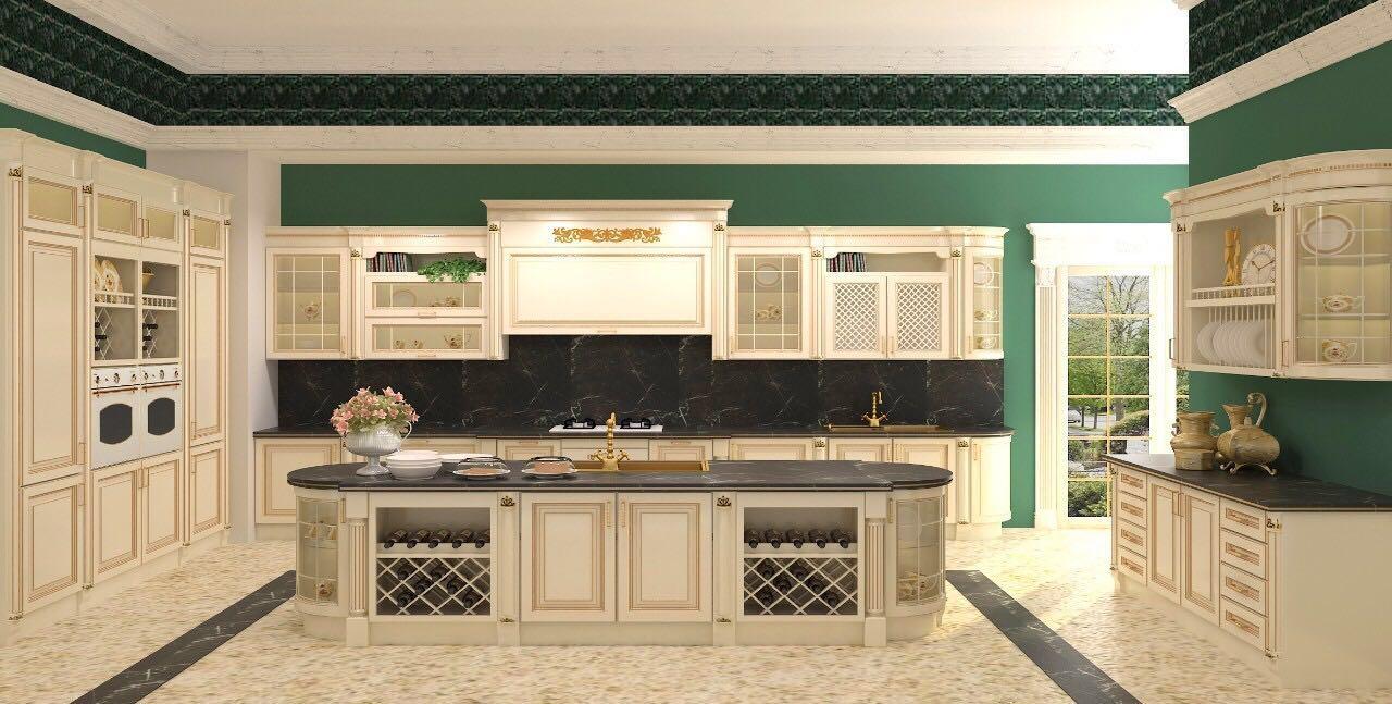 厨房柜门欧式白色图片